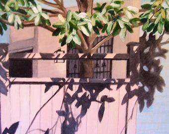 Back Yard, 16x20 acrylic painting