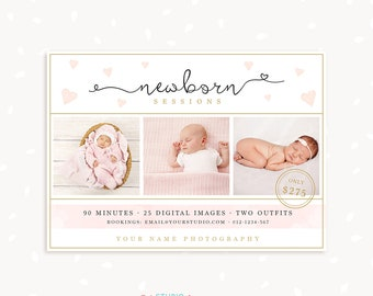 Newborn Mini Session Template, Newborn Photography Template, Board, Newborn Template, Photoshop Template, Newborn Photography Marketing