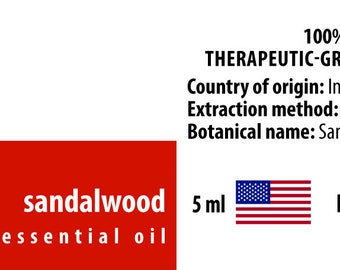 Sandalwood 100% Essential Oil from India 5ml