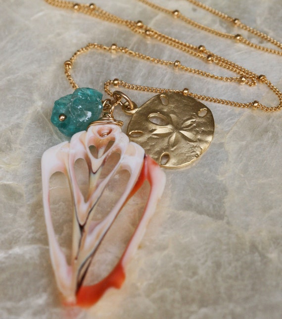 Sand Dollar Necklace - Shell Necklace - Charm Necklace - Beach Jewelry- Natural Shell- Ready to Ship -