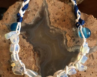 Opal Stone Mala Bracelet