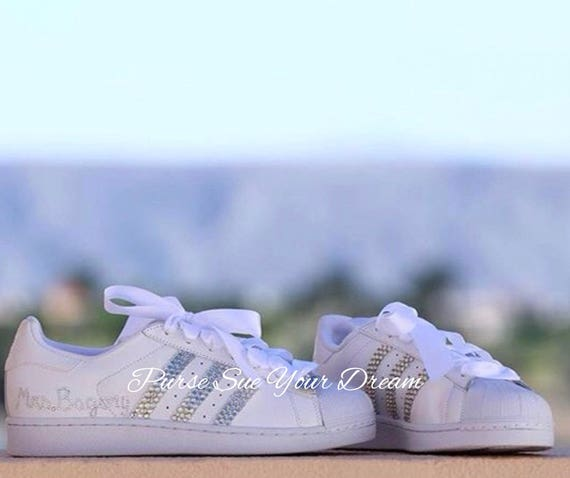 Swarovski Crystal Design Bridal Adidas Superstar Wedding Shoes - Swarovski  Adidas - Swarovski Wedding Shoes