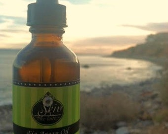 Fig ORGANIC ARGAN OIL || Cold Pressed || Available in a 2 or 4 oz glass bottle || Luxurioius Body Oil  and Hair Oil