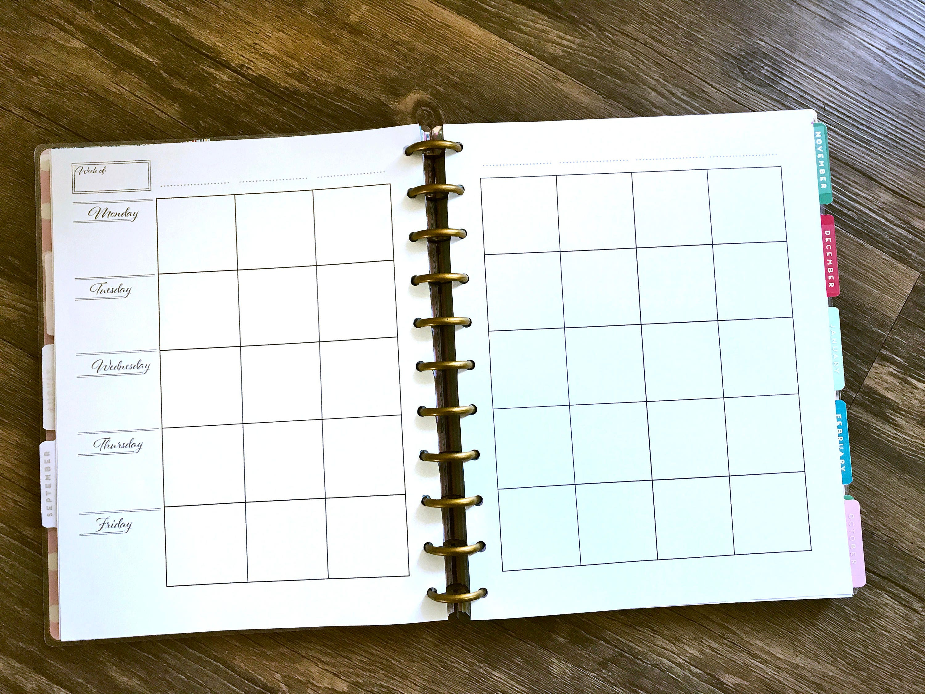 happy planner teacher monthly  weekly lesson plan simple