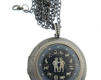 Gemini Locket & Gift bag, Astrology Locket, Necklace, Gemini Necklace, Gemini Jewellery, Locket, Jewelry, Gift, Star, Jewellery, Jewelry