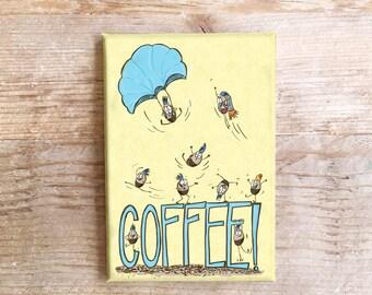 Kaffeebohnen Küche Magnet Spaß Kühlschrank Kühlschrank lustige Lebensmittel Kaffee-Liebhaber