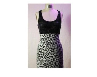 Sparkle and trippy geometric dress