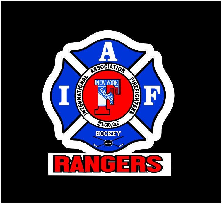 IAFF New York Rangers Hockey Team Car Decal for Union