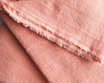 cotton double gauze fabric. soft japanese pure cotton fabric. 102cm (40in) wide. sold by 50cm (19in) long / half yard. coral pink