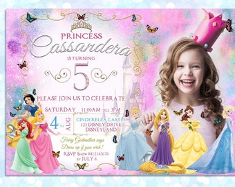 Disney Princess Digital Birthday Invitation