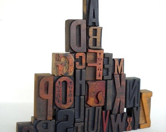 A to Z - Vintage Letterpress Wood Type Collection -VG107