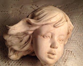 Secret Garden Fairy Fairie Plaster Statue Head Creepy Decor