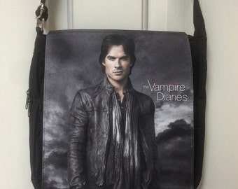 Vampire Diaries Damon Inspired Messenger Bag / Purse