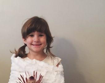 Child's faux fur wrap ivory children's wrap fall winter spring flower girl
