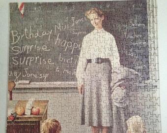 "Norman Rockwell Puzzle ""Teacher's Birthday""  (1267)"