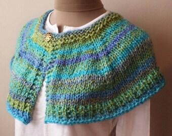 PDF Knitting PATTERN for Capelet Shoulder Shawl Shawlette Immediate Download