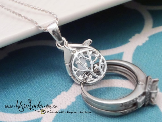 AloraLocks Tree Of Life Wedding Ring Holder Pendant