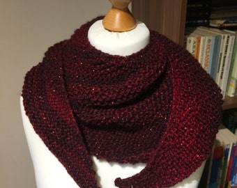 Knitted Asymmetrical Scarf