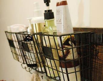 Wire Basket, Rustic Storage, Wire Basket Wall Decor, Kitchen Decor, Kitchen  Organizer