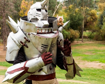 Alphonse Elric Inspired Armor: FMA in full real metal armor, Steampunk leather accents