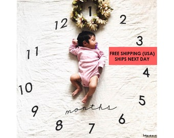 Baby Circle-Monthly Milestone Blanket™ / swaddle blanket / anniversary / age  / growth blanket / newborn photo / baby shower gift