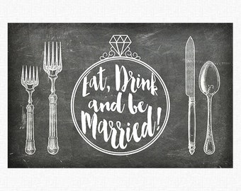 "Chalkboard Wedding Paper Placemats | Printed Chalkboard Paper Placemats Book of 25 17"" x 11"" inches Tear-Off Pad/Card Stock Paper"