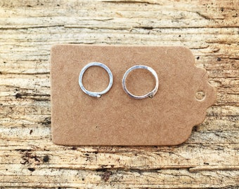 Rustic Circle Earrings