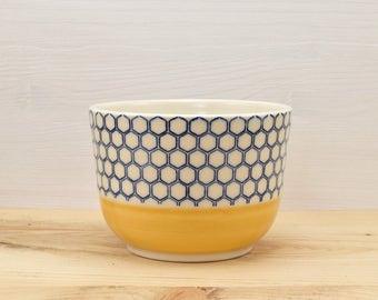 Orange coffee - bees alveoli Bowl
