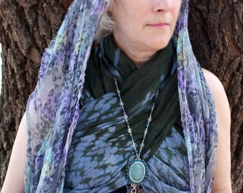 Body Jewelry: Thalassa - Amazonite, Crystal, and Apatite Body Chain