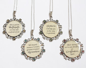 Wizarding House Motto Necklace (CLEARANCE)