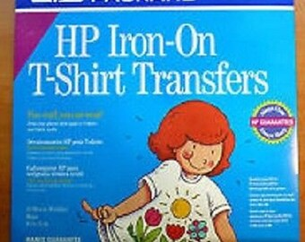 Free Shipping!!  Hewlett PackardHP Iron-On T-Shirt Transfers - 10 Transfer Sheets - Sewing - New in Package - SNSJ3