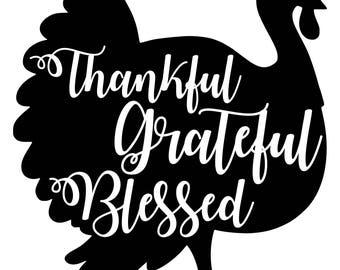 Digi-tizers Thankful Grateful Blessed Turkey (SVG Studio V3 JPG)