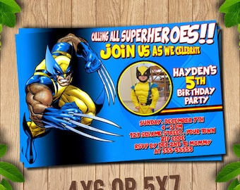 Wolverine Invitation, Wolverine Birthday, Wolverine Party Invitations, Logan, X-Men, Printable Invitation, Wolverine Printable,