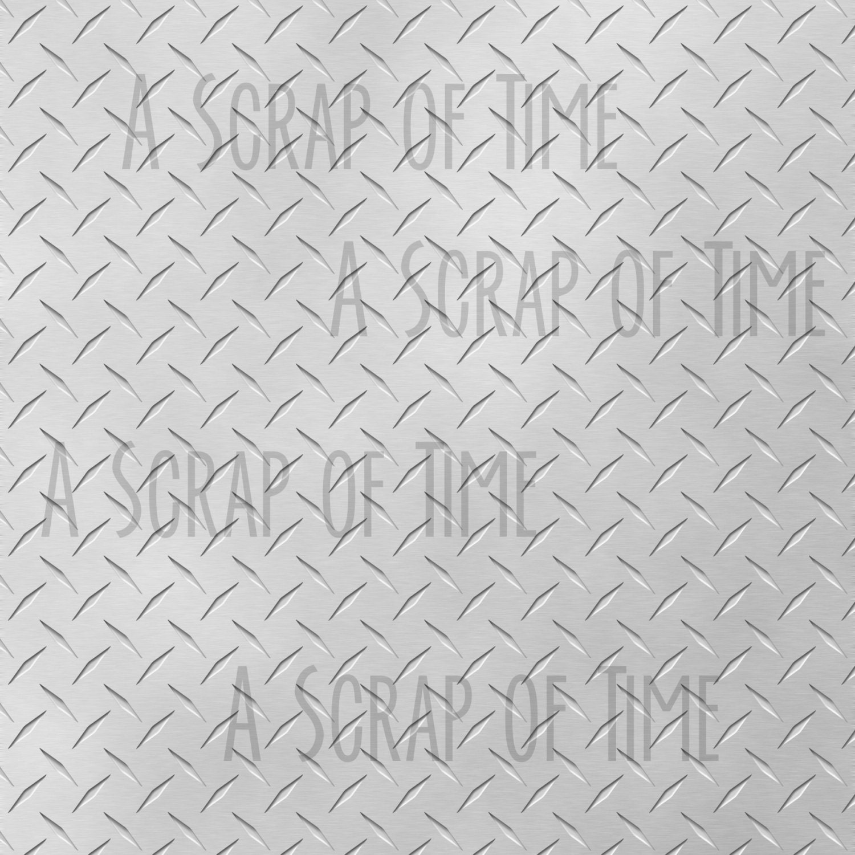 Metal Digital Scrapbook Paper 12x12 Pack - Set of 12 - Diamond Plate ...