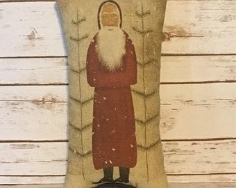 Christmas Pillow,Santa Pillow,Primitive Pillow,Vintage Santa Clause,Rustic Christmas,Farmhouse Christmas