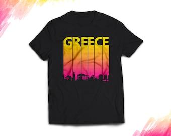 Greece Shirt women men, Retro Greece Gift T shirt, Vintage style Greece T shirt, 1980s Greece tshirt souvenir, tee #1700