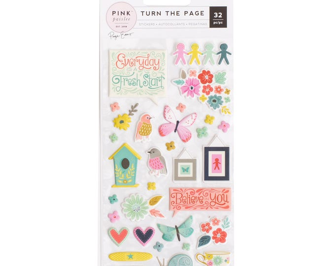 Turn the Page Paige Evans puffy stickers