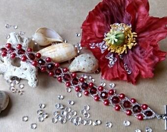 Crystal Poppy Bracelet