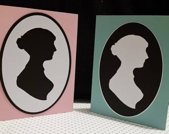 Jane Austen Silhouette Card