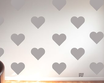 Heart Wall Decor. Bedroom Wall Decals. Heart Decals. Nursery Wall Decor. Vinyl Decals. Wedding wall decals. Wall sticker. Home decor decals.