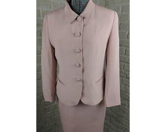 Peach Color Suit Silk Suit Career Suit Vintage Suite