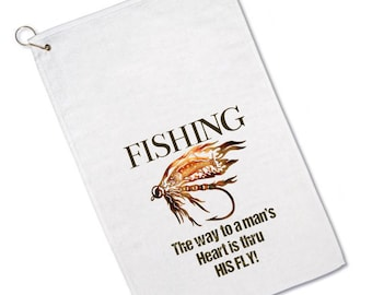 Custom Fishing Towels - Fly Fishing Towel - Funny Saying- Personalized - Fly Fish Lure - Fisherman - Personalized Gift - For Men