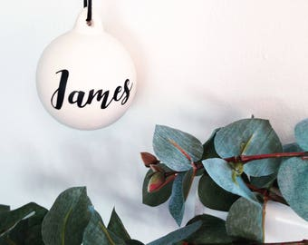 Personalised Christmas Bauble. Free delivery.