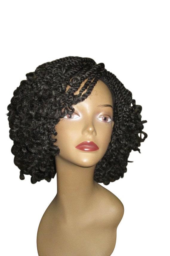 Essence Wigs Curly Kinky Twists Crochet Wig Black Natural Hair Marley Two Strand Twist Unit