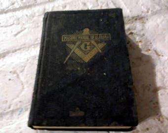 Vintage 1943 edition of the Masonic Manual Grand Lodge of Alabama by Oliver Day Street Masons Freemasons book