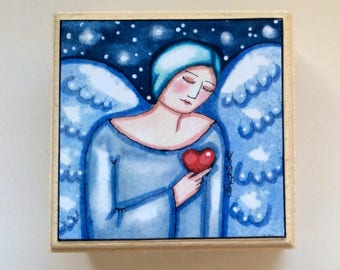 Angel box,Angel gift, Jewellery Box, Decorative Box,Whimsical gift,Keepsake box,gift for her,Valentines gift,Birthday gift,Jewellery,Gifts