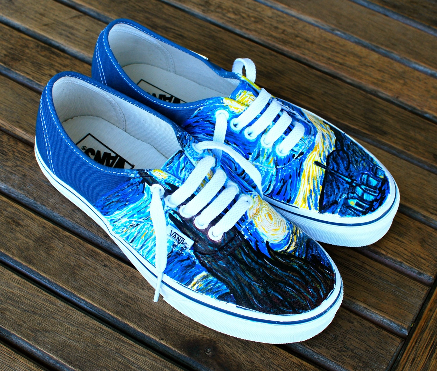 Vans Authentic Custom Hand Painted St...