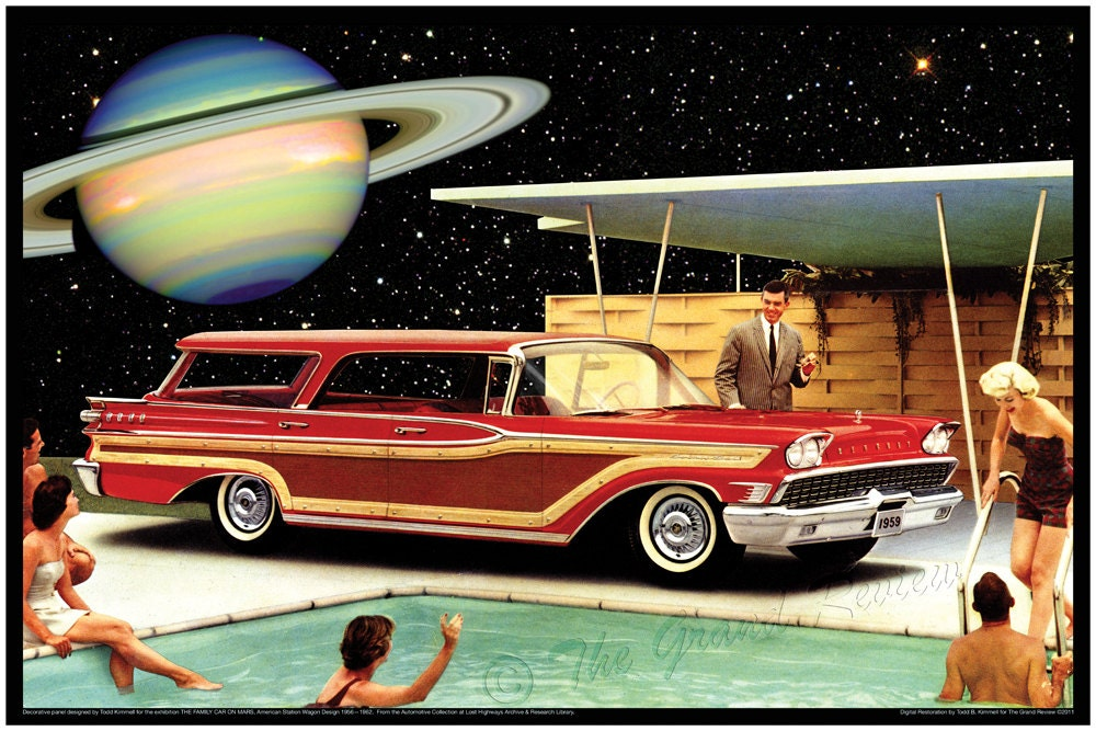 Vintage Car Print 1959 Mercury Station Wagon from The