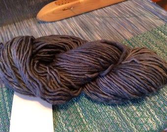 Worsted Merino wool Yarn single charcoal