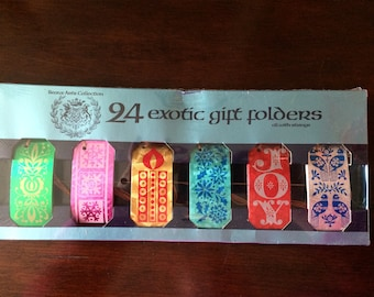 1970s Foil Christmas Gift Tags Papercraft